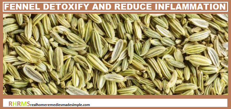Fennel seeds detoxifies the body and reduces inflammation in ulcerative colitis